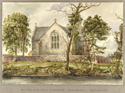 East View of the Chapel at Landwade, Cambridgeshire, April 19th 1848